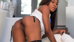 The Busty Black Maid - Fuck This Hot Stockings Tease VRBangers Nadia Jay vr porn video vrporn.com virtual reality