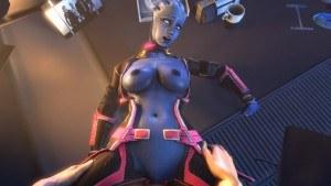 Liara Takes It On The Desk Missionary Style DarkDreams Commander Shepard Liara vr porn video vrporn.com virtual reality
