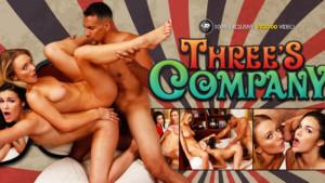 Three's Company - The Ultimate VR Threesome VR3000 Eden Sinclair Molly Mae VR Porn video vrporn.com