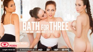 Bath For Three VirtualRealPorn Angel Rush Antonia Sainz vr porn video vrporn.com virtual reality