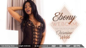 Ebony Webcam - Solo Black Girl Playing in Shower VirtualRealPorn Jasmine Webb VR porn video vrporn.com virtual reality