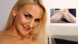 Katy Tastes Her Piss VirtualPee Katy Sky vr porn video vrporn.com virtual reality