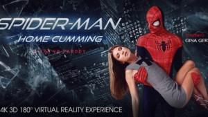 Spider-Man Home Cumming (A XXX VR Parody) VRBangers Gina Gerson vr porn video vrporn.com virtual reality