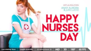 Happy Nurses Day - Beautiful Stockings Nurse Costume VR Porn VirtualRealPorn Juan Lucho Anny Aurora VR porn video vrporn.com