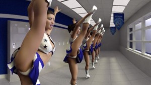 Cheerleader Experience (CGI Ray-Traced Clothed Routines) SkinRays vr porn video vrporn.com virtual reality