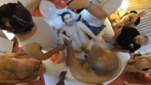 Anastasia Roses' Anal Interracial Creampie Gangbang, Part 1 TadPoleXXXStudio vr porn video vrporn.com virtual reality