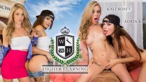 Higher Learning WANKZVR Adria Rae Kali Roses vr porn video vrporn.com virtual reality